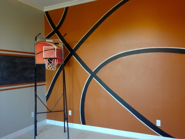 Nine design group austin texas blog archive boy 39 s for Basketball court mural